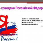Сочинение » Мы — граждане Российской Федерации»